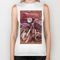 moto Biker Tanks featuring Vintage Moto by Eduard Leasa Photography
