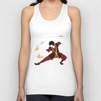 airbender Tank Tops featuring Zuko by JHTY