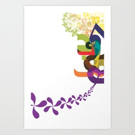 Flowers of Simele Art Print