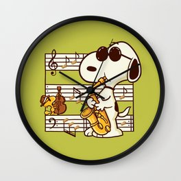 Happiness is Music Wall Clock