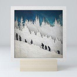 A Snowy Hike II Mini Art Print