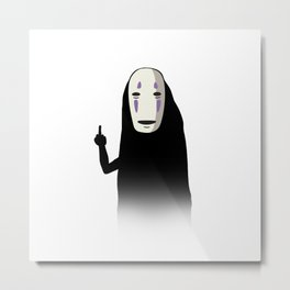 No Face and a Bird Metal Print
