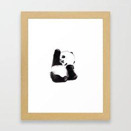 baby panda Framed Art Print