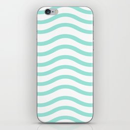 Mint Waves iPhone Skin