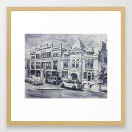 Western Avenue In Muskegon, Michigan Framed Art Print