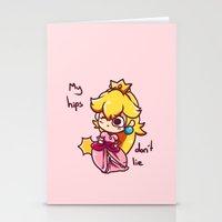 princess peach Stationery Cards featuring Princess peach by HeliPeach
