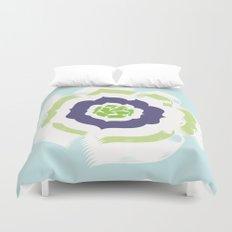 Island Bloom - Blue Duvet Cover