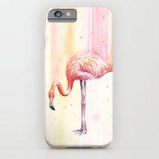 Flamingo Watercolor   Pink Rain Slim Case iPhone 6s
