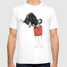what is likely to happen when one is full of bull Mens Fitted Tee White MEDIUM