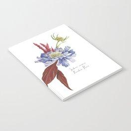 Blue Scabiosa Flower Notebook