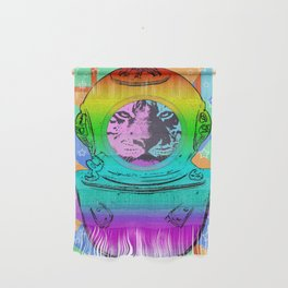 SPACE TIGER ASTRONAUT Wall Hanging