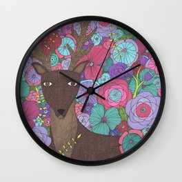 The Wise Stag Wall Clock