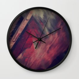 Pyramid Ablaze  Wall Clock