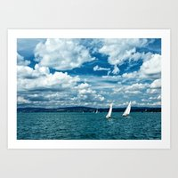 boats Art Prints featuring Boats by Aleksandra Madejska