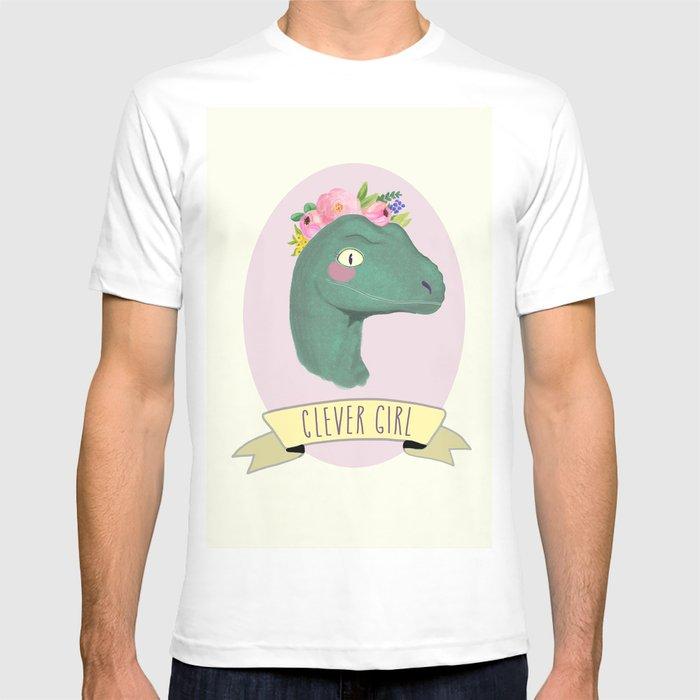 a24c9dc2e8baf Clever Girl Dinosaur   Jurassic Park   Gift for Her   Boho Baby Animal  Nursery Decor   Feminist T-shirt by emilyshayart