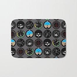 Flight Instruments Bath Mat