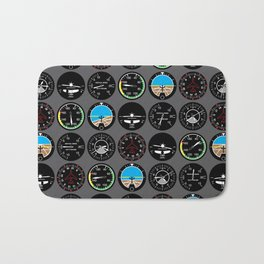 Flight Instruments Bath Mat