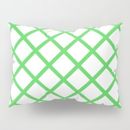 Criss-Cross (Green & White Pattern) Pillow Sham