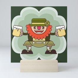 Leprechaun is ready for Oktoberfest Mini Art Print