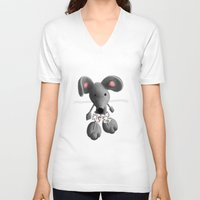 rat V-neck T-shirts featuring Rat by Laurel