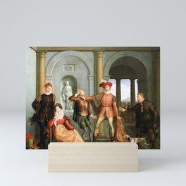 Washington Allston Scene from Shakespeare's The Taming of the Shrew (Katharina and Petruchio) Mini Art Print
