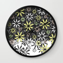 Etched Daisy Wall Clock