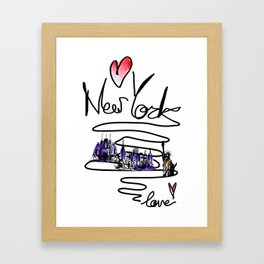 Love New York Framed Art Print