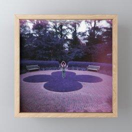 Girl in the Purple Gardens - Holga Film Photograph Framed Mini Art Print