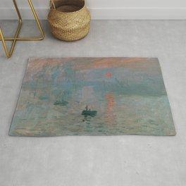 Claude Monet - Impression, Sunrise Rug