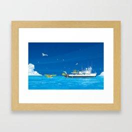 RV Calypso Framed Art Print