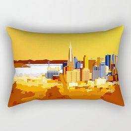San Francisco on a sunny day Rectangular Pillow