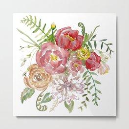 Bouquet of Spring Flowers Metal Print