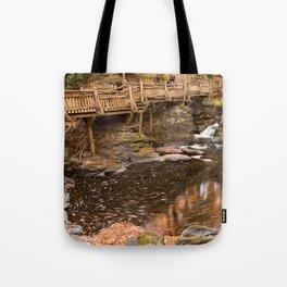Swirling Bushkill Fall Stream Tote Bag