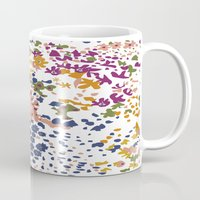 leah flores Mugs featuring FLORES by gcmozamo