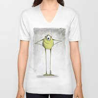 monsters V-neck T-shirts featuring Monsters  by Jena Sinclair