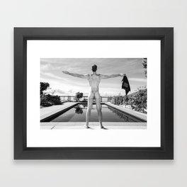 Freedom Man at Pool Framed Art Print