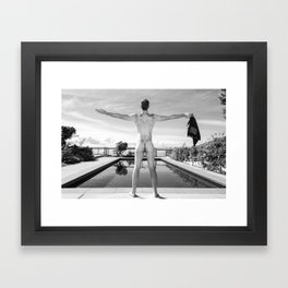 Freedom Swim Male Nude Framed Art Print