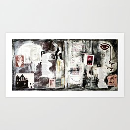 Timeline Poem, (Old Sons Of The Voices). Art Print