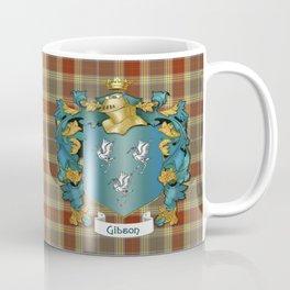Gibson Coat of Arms and Tartan Coffee Mug