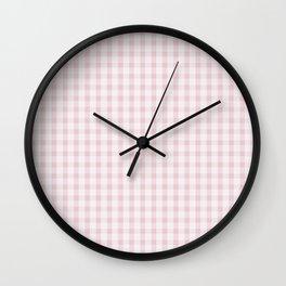 Pink Gingham Wall Clock