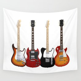 Four Electric Guitars Wall Tapestry