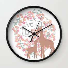 Mother's Day (Love You Mom) Wall Clock