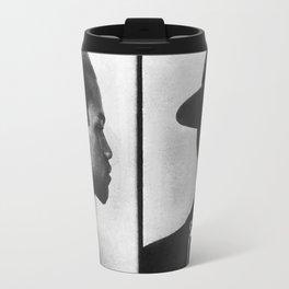Malcolm X Mugshot Travel Mug