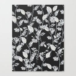 white leaf pattern Canvas Print