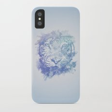 Abstract Watercolor Tiger Portrait / Face Slim Case iPhone X