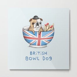 British Bowl Dog Metal Print