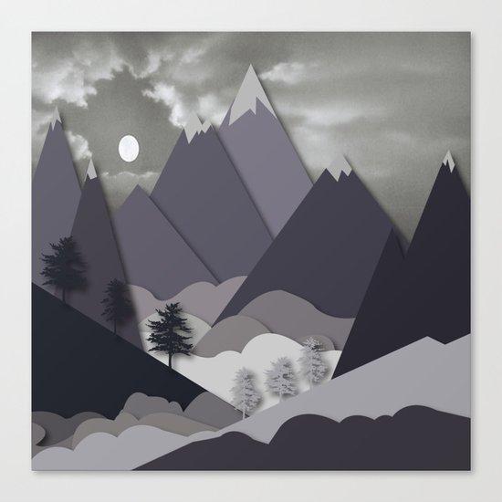 Night Mountains No. 24 Canvas Print