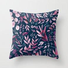 Eucalyptus Pink Throw Pillow