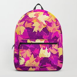 Autumn Leaves (pink & yellow) Backpack