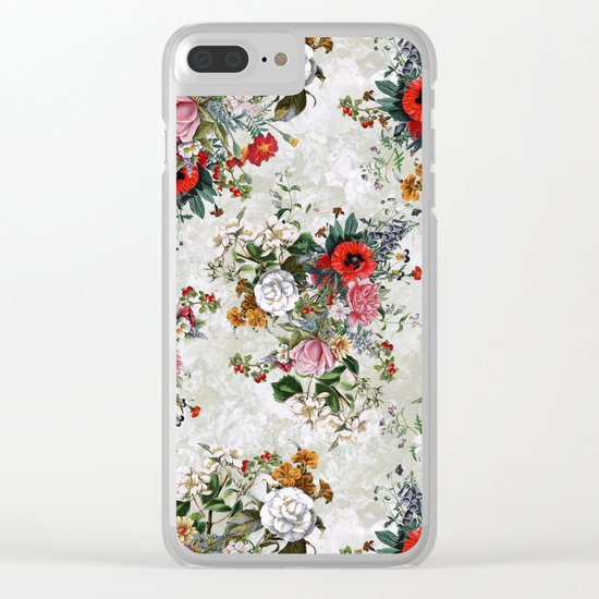 Botanical Flowers IV Clear iPhone Case